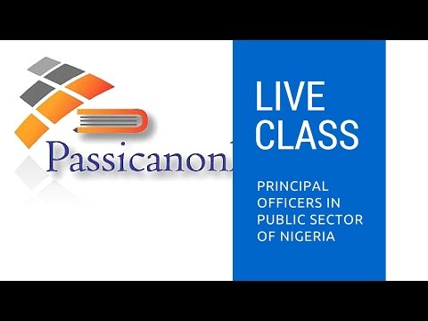principal officers in public sector of Nigeria