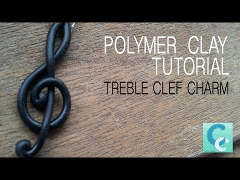 Treble Clef Charm / Pendant - Polymer Clay Tutorial