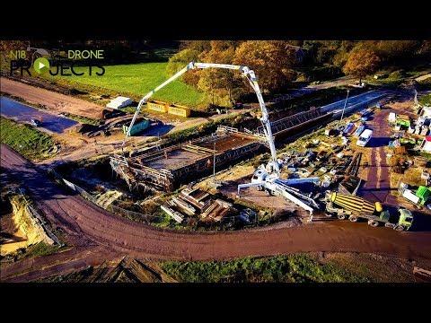 Beton Storten Fietstunnel Tesinklandenweg N18 Drone Projects