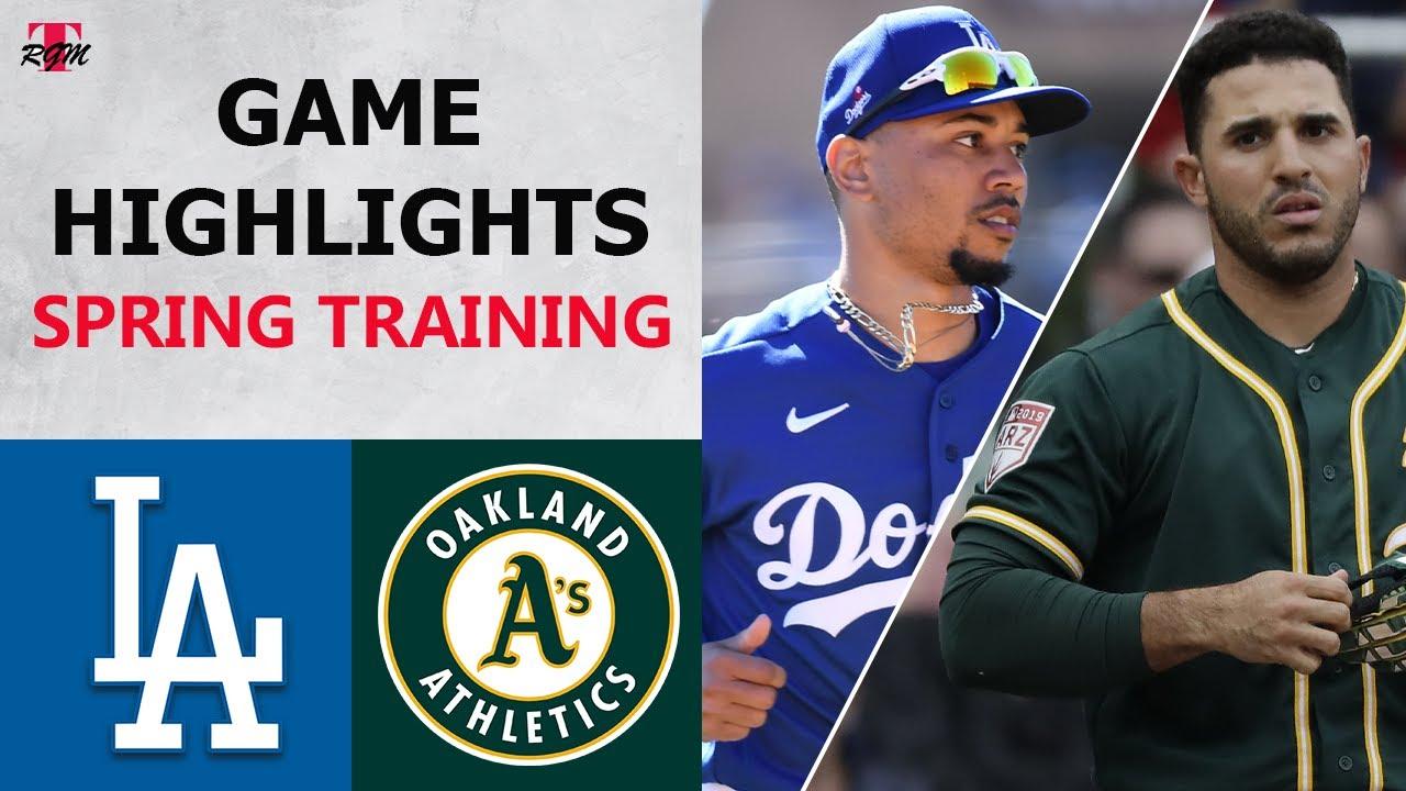 Los Angeles Dodgers vs. Oakland Athletics Highlights   February 28, 2021 (Spring Training)