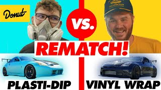 $500 Plasti-Dip vs. $2600 Vinyl Wrap - PART 2! | Donut Media