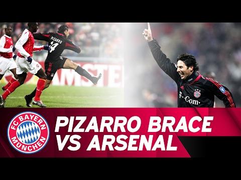 Claudio Pizarro Brace Against FC Arsenal | 2004/05 Champions League