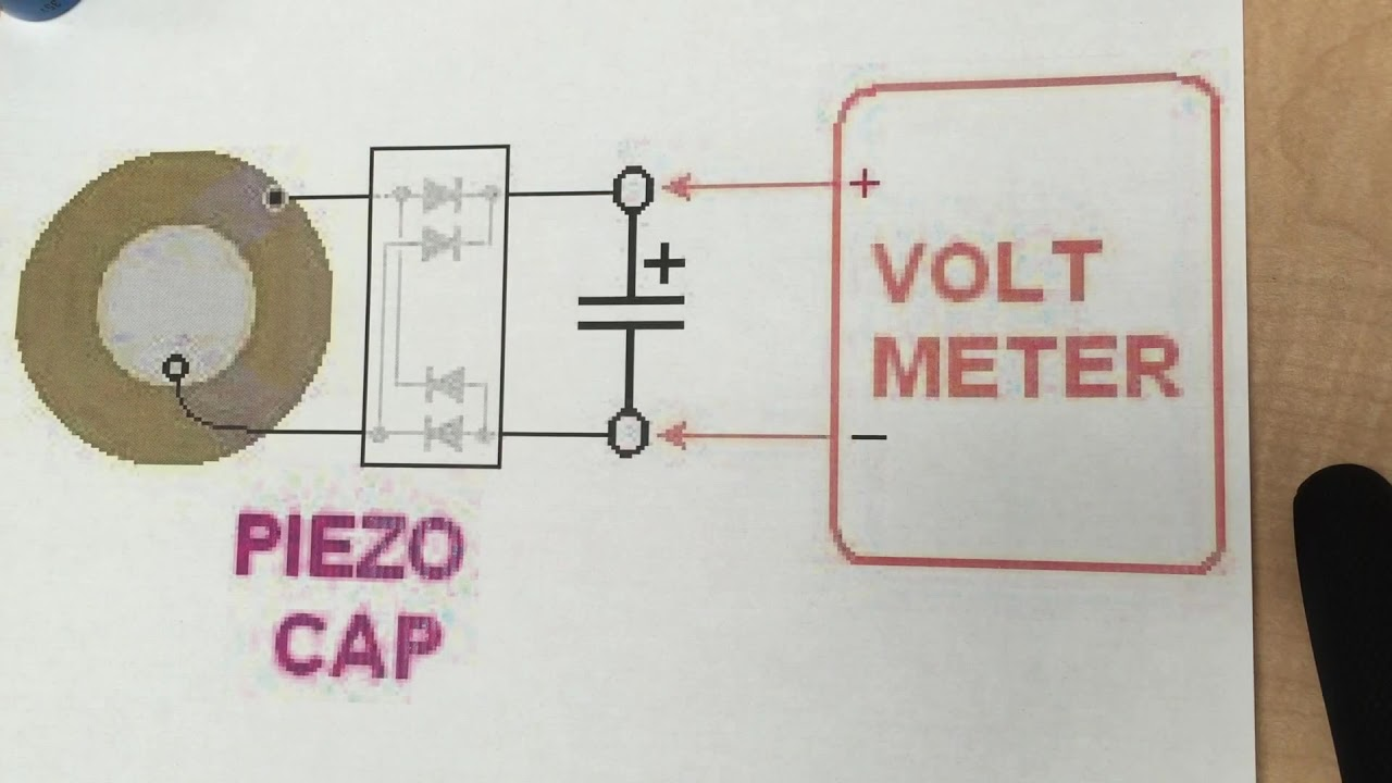 hight resolution of piezo wiring to charge a film capacitor