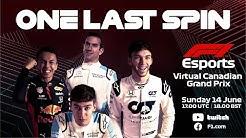 F1 Virtual Canadian Grand Prix LIVE!