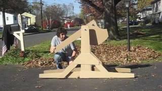 Cardboard Trebuchet