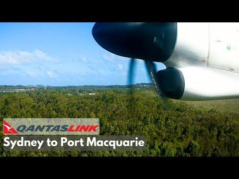 FULL FLIGHT: QantasLink Dash 8 Q400 | Sydney To Port Macquarie