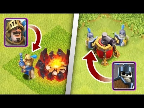 Clash Royale Cards In Clash Of Clans..