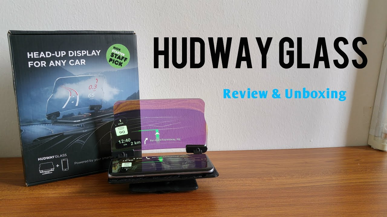 HUDWAY Glass (HUD Display For ANY Car) Review & Unboxing [HD]