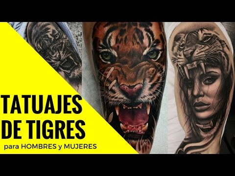 Los Mejores Diseños de Tatuajes de Tigres para hombres y mujeres fuertes PODEROSOS | Tatuajes Tattoo
