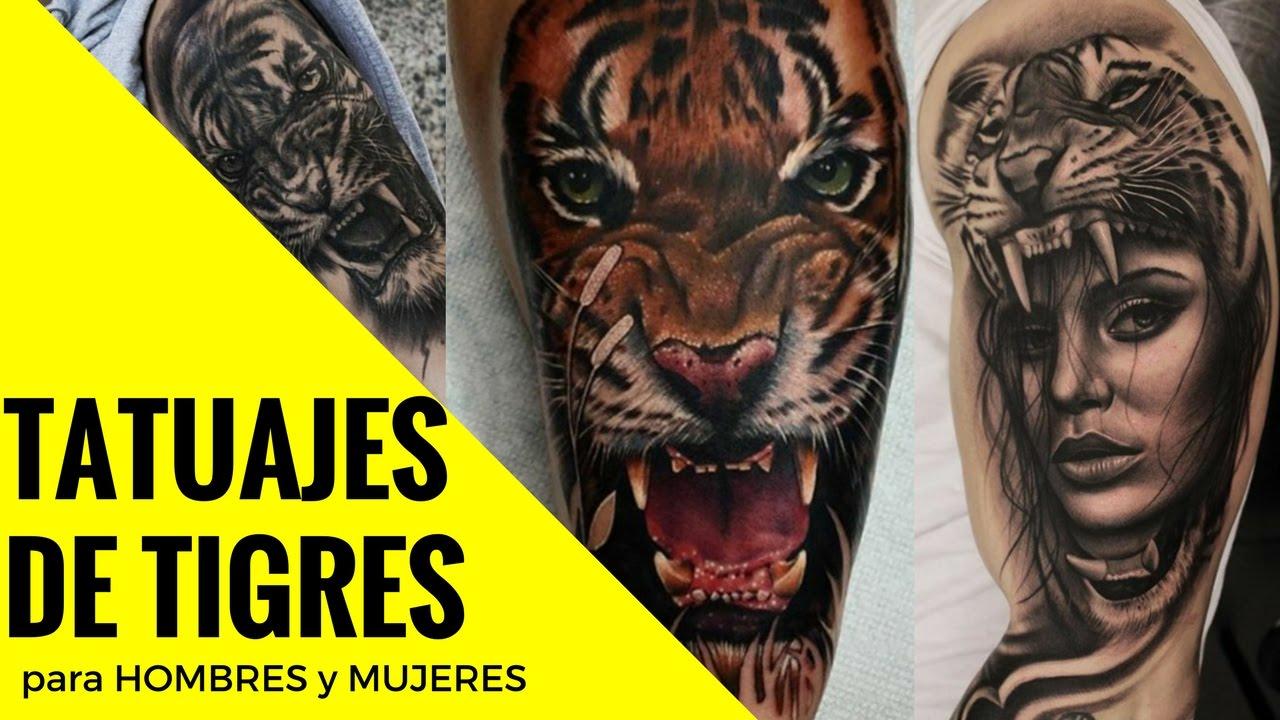 Los Mejores Diseños De Tatuajes De Tigres Para Hombres Y Mujeres