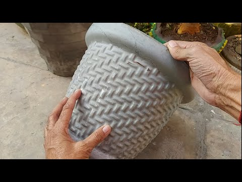 How to make beautiful cement pot at home | DIY Garden Projects