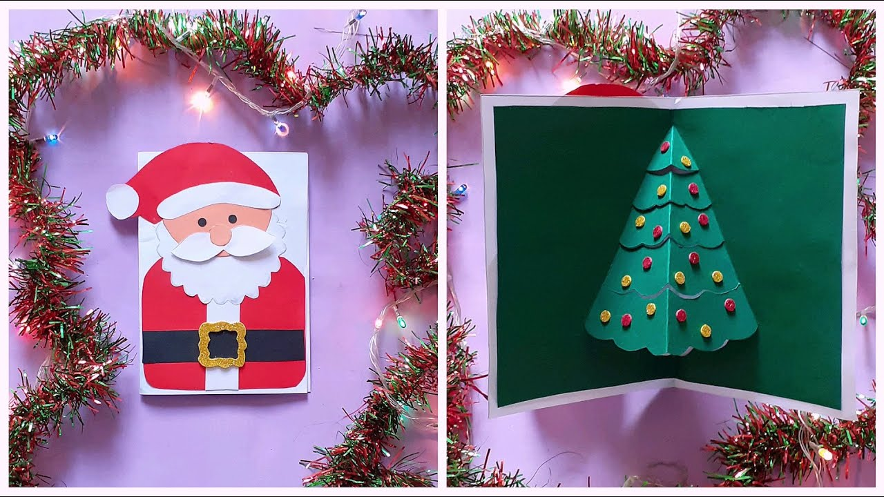 DIY Pop Up Christmas Greeting Card   Christmas Crafts   Paper Crafts