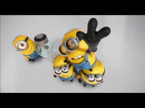 Great Happy Birthday Greeting From Minions ... Despicable Me And Despicable Me 2  ... Two Songs Incl. Banana.