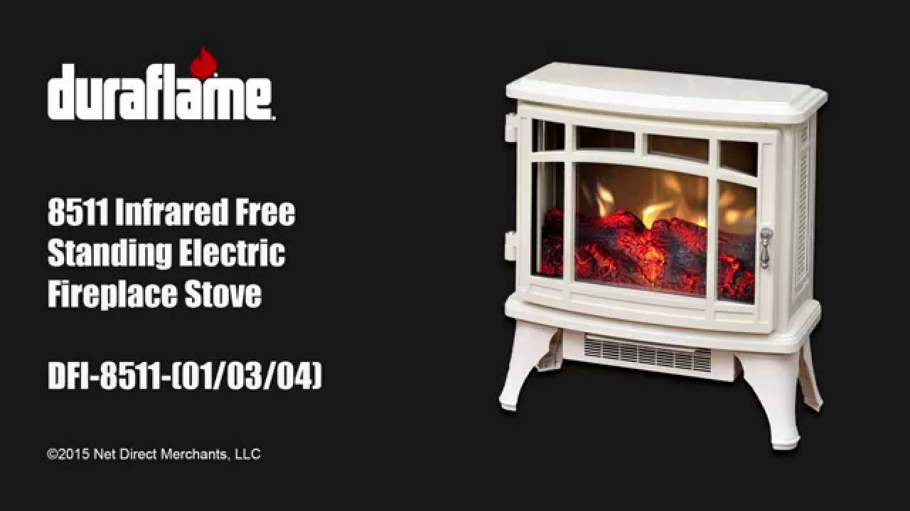 duraflame 8511 free standing electric stove youtube