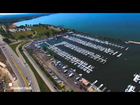 Drone Flight Over Cleveland's Lake Erie Shore