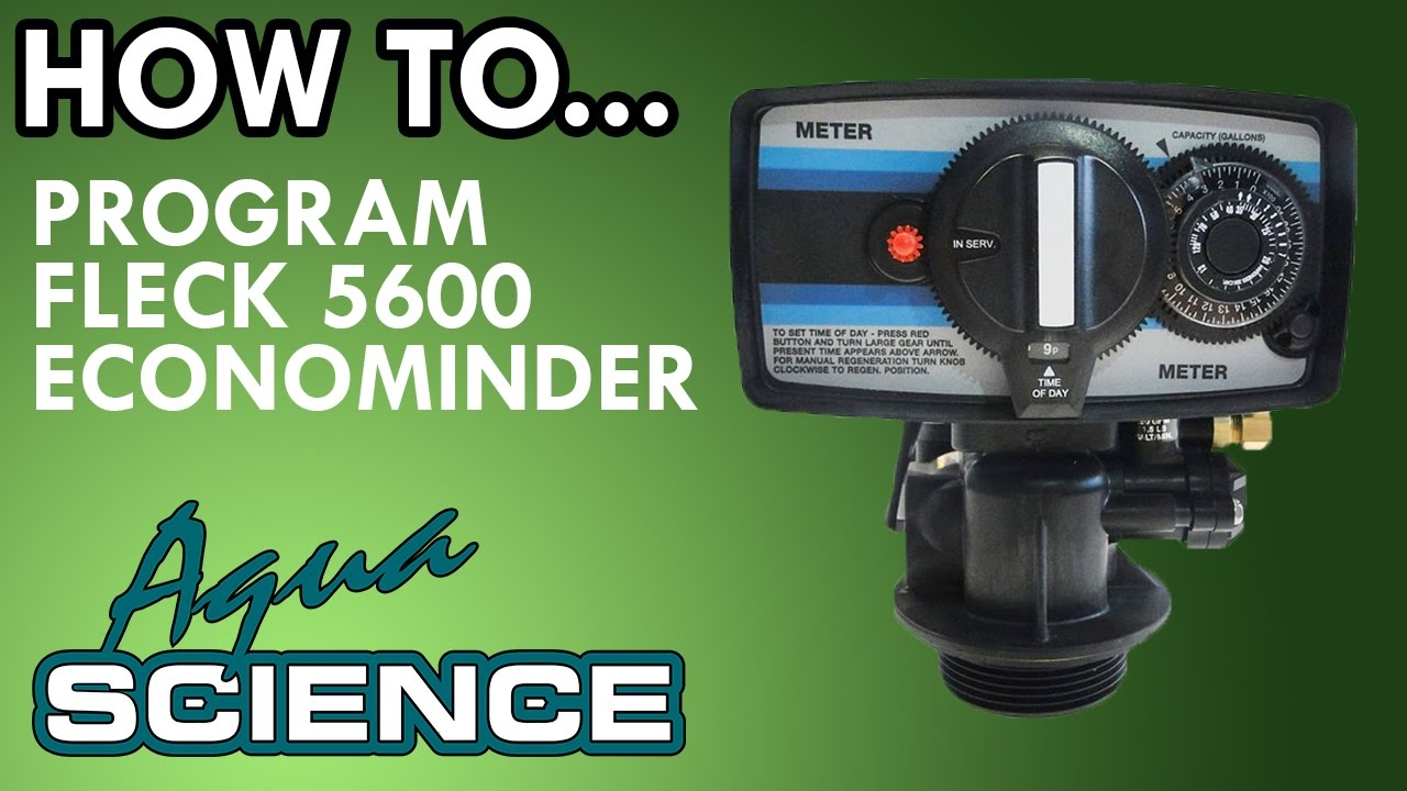 How To Program Fleck 5600 Econominder Youtube