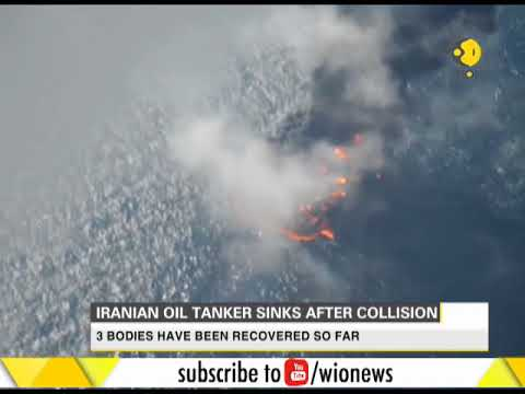 Iranian oil tanker sinks after collision