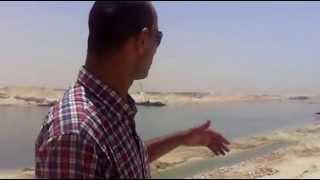 هانى عبد الرحمن يرصد عبور اول معدية بقناة السويس الجديدة 1رمضان 2015