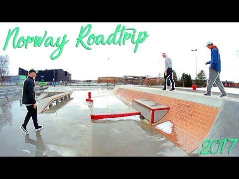 NORWAY ROAD TRIP 2017 | Trikkestallen And Checking Out Stjørdal Skatepark