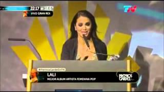 Lali Espósito se llevó su primer Premio Gardel 2015