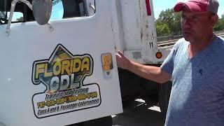 Русская школа CDL. Pre Trip Inspection на Русском и Аглийском. Часть 2. Outside The Tractor