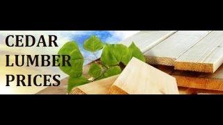 Cedar lumber prices, rough sawn lumber prices