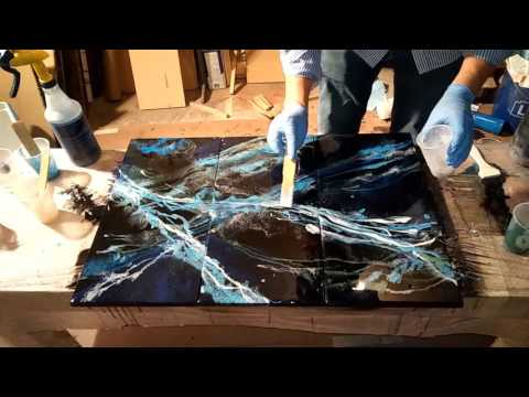 Resin Art with Mica Pigments - 2 Layers