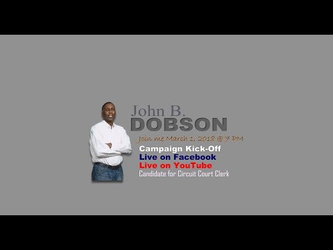 Dobson Candidate for Circuit Court Clerk