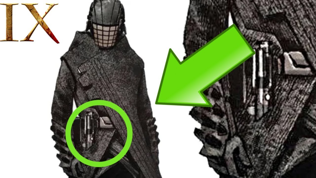 Episode 9 Concept Art Reveals Knight Of Ren With A Lightsaber The Rise Of Skywalker Youtube