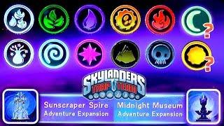 """Skylanders Trap Team """"Light"""" & """"Dark"""" Element Adventure Packs in Game Menus"""