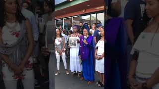 Queen Afua speaks at Nipsey Hussle's memorial.