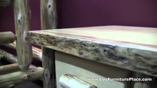 1 Drawer Log Nightstand From The Cedar Lake Frontier Collection