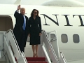 Trump arrives in Washington area