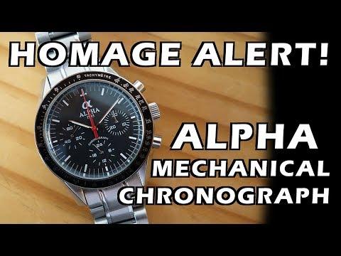 "Homage Alert! Alpha ""Moon Watch"" Mechanical Chronograph Review - Perth WAtch #86"