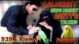Lalukhet Birds Market Aunty's Talking Parrot In (Urdu/Hindi}