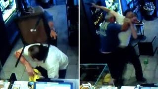 Java justice: Starbucks customer attacks armed robber