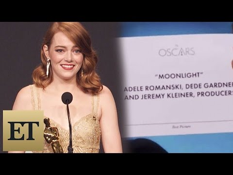 Thumbnail: Emma Stone Reacts to Best Picture Mistake Between 'La La Land' & 'Moonlight' Backstage at the Oscars