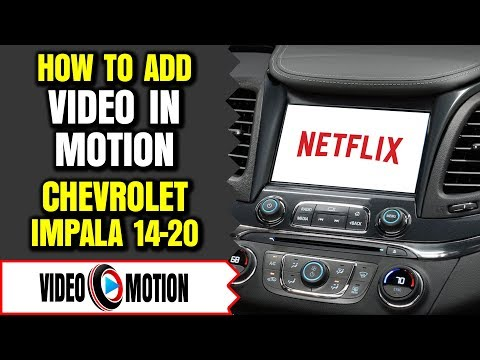 Chevrolet Impala 2014-2019 MyLink DVD USB Video In Motion While Driving Bypass GM Interface LockPick