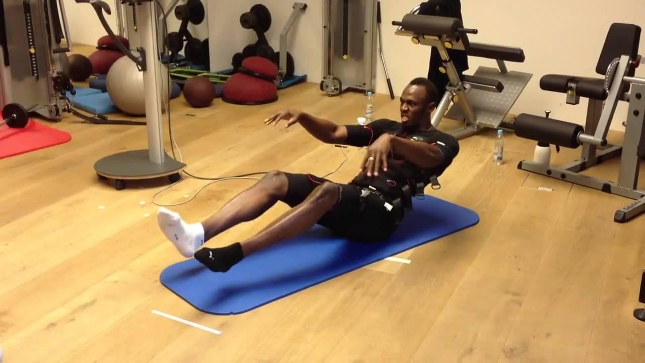 Usain Bolt Abs Workout Usain Bolt early morni...
