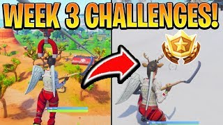 Fortnite ALL Week 3 CHALLENGES GUIDE! – RIDE A ZIP LINE, SECRET BATTLE STAR WEEK 3, RING A DOORBELL!