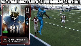 MOST FEARED CALVIN JOHNSON GAMEPLAY! MUT MONSTER CALVIN! | MADDEN 19 ULTIMATE TEAM