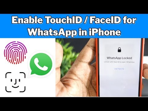 Enable Touch ID / Face ID  for WhatsApp in iPhone