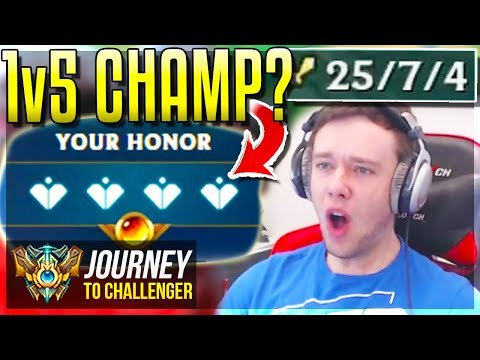THIS CHAMPION CAN 1v5 CARRY EASY - Journey To Challenger  League of Legends