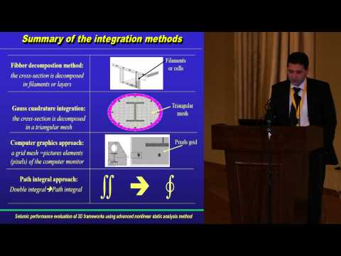 """Prof. Cosmin Chiorean """"Seismic Perf. Assess. of 3D F. S. Using Advanced Nonlinear Static Analysis"""""""