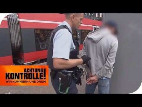 Gesuchter Straftäter beim Schwarzfahren erwischt! Festnahme! | Achtung Kontrolle | kabel eins