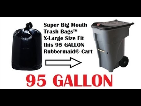 95 gallon trash bags garbage can liners for rubbermaid brute 95 - Rubbermaid Garbage Cans