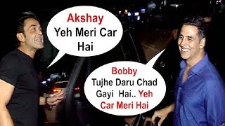 Akshay Kumar And Bobby Deol So Drunk That They Can't Identify Their Cars