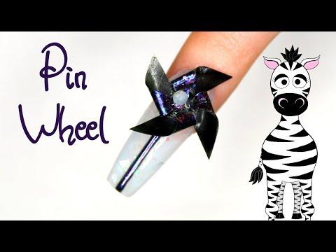 4D Pinwheel Acrylic and Gel Nail Art Tutorial | Madam Glam thumbnail