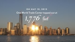 One World Trade Center Spire Time-Lapse - 9/11 Tribute