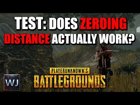 TEST: Does zeroing distance ACTUALLY work? - PLAYERUNKNOWN's BATTLEGROUNDS (PUBG)